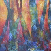 BLAZING FOREST, Acrylic